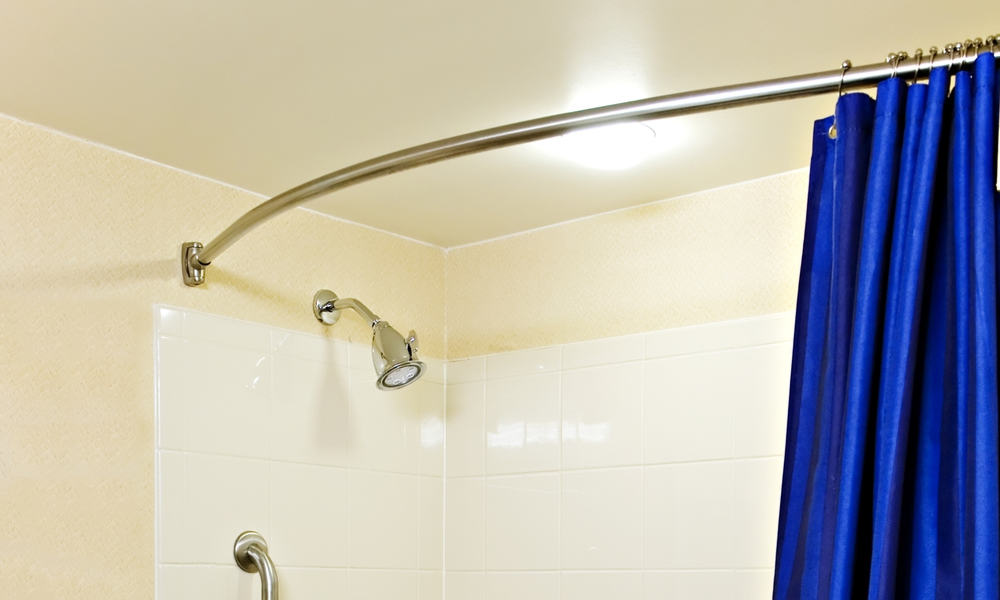 curved shower curtain rod
