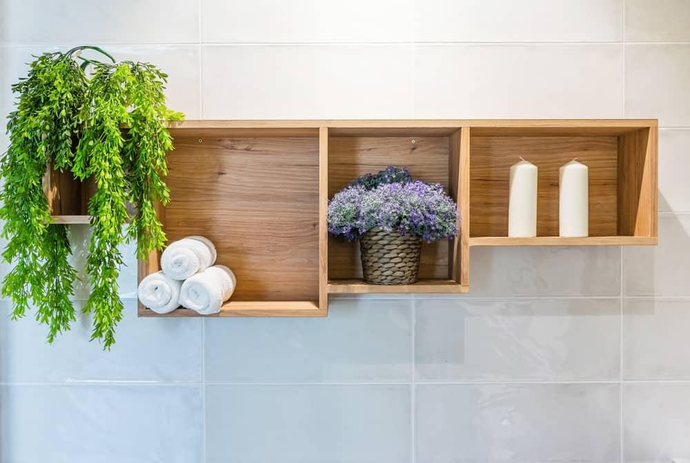 Add depth with a spacious shelf setup