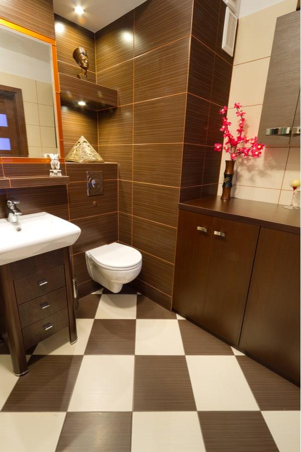 Porcelain Tile Bathroom Flooring