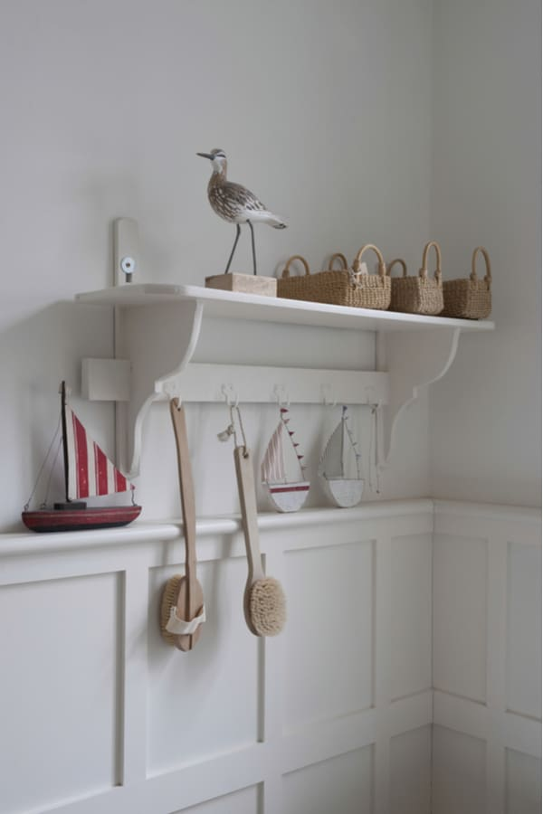 Combine hooks and shelves for an excellent storage unit