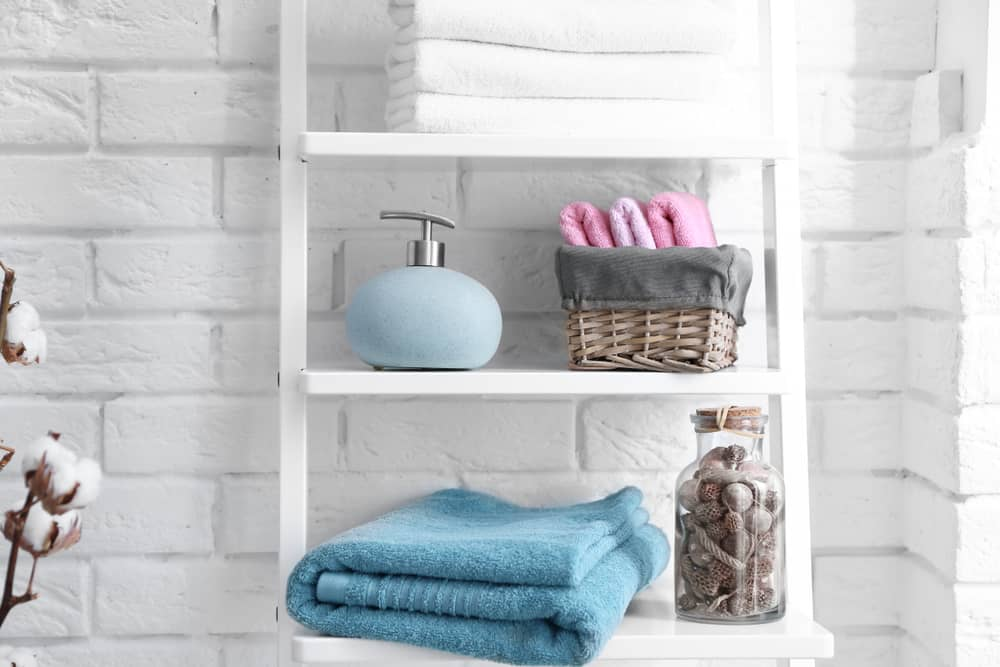 Give the ladder a go for valuable bathroom storage