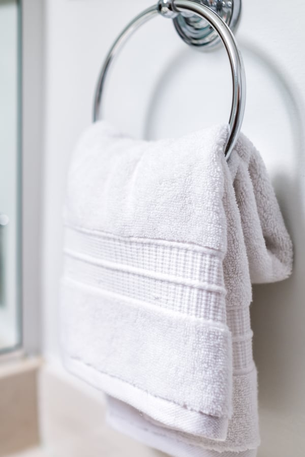 Keep it simple with a towel ring
