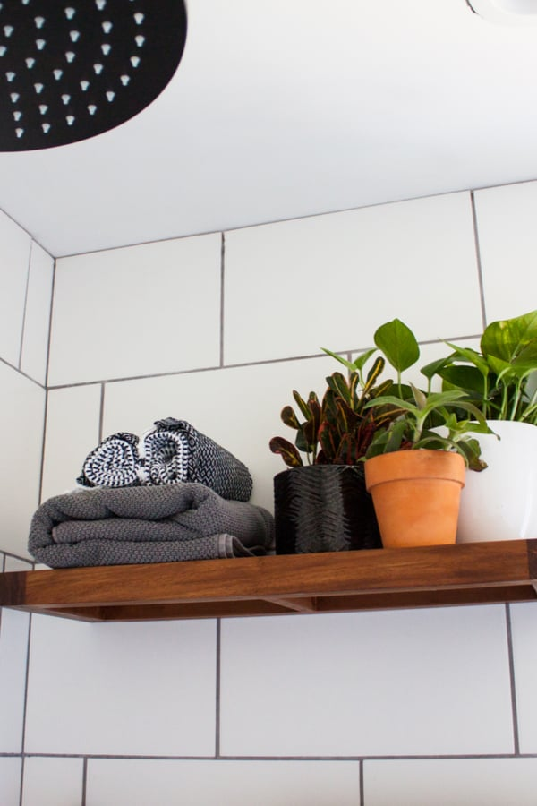 Upgrade storage space with a simple shelf