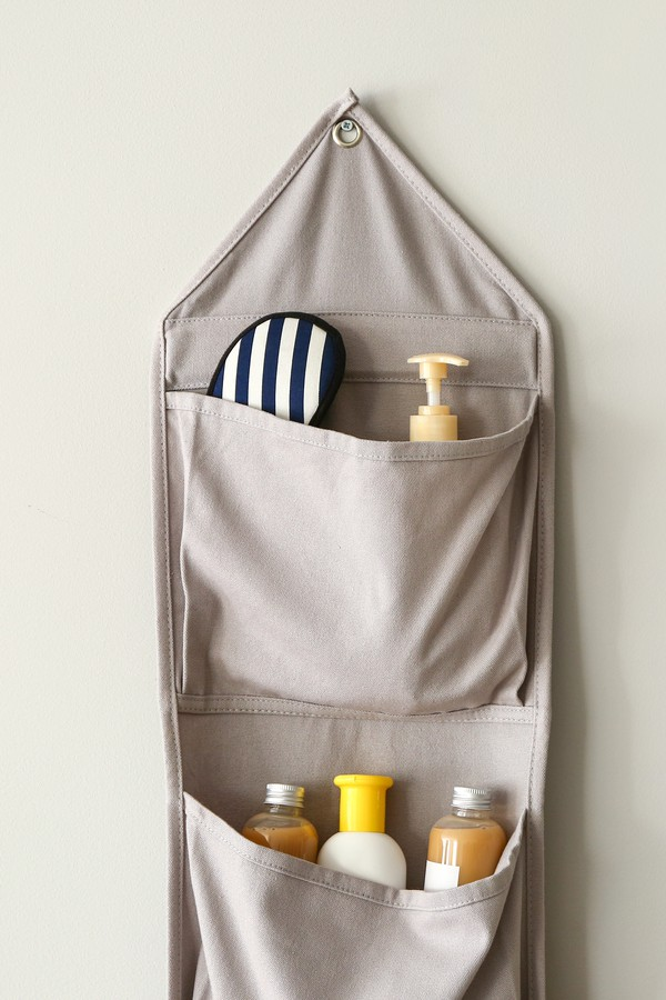 Use a hanging fabric organizer