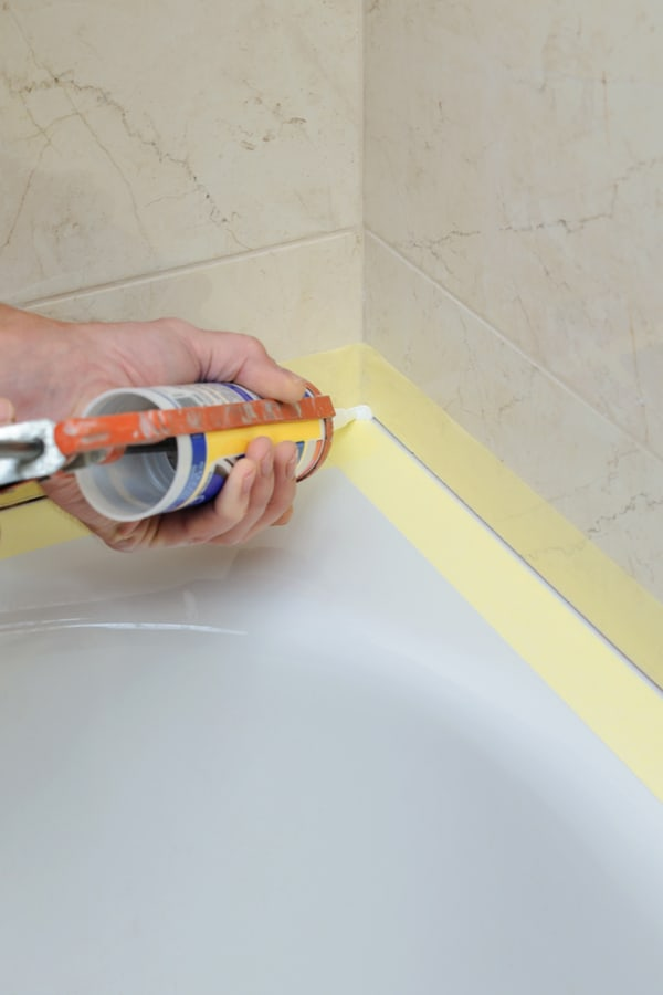 caulk tub