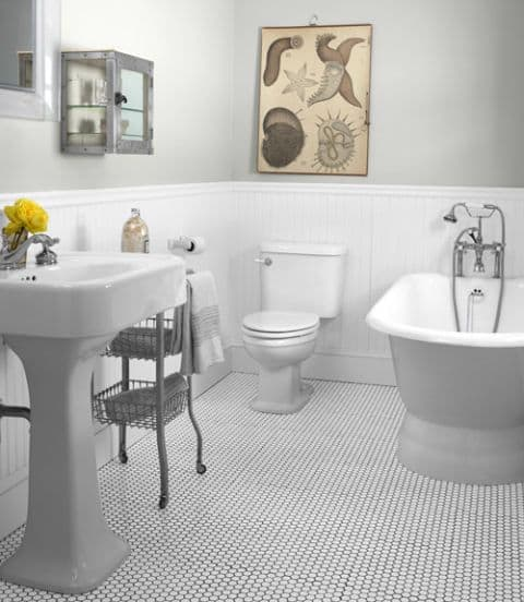 Jazz up White Bathroom