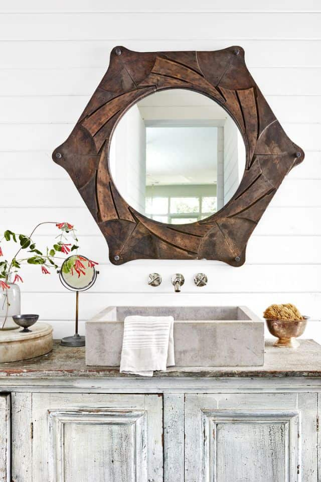 Rustic touch to Vanity