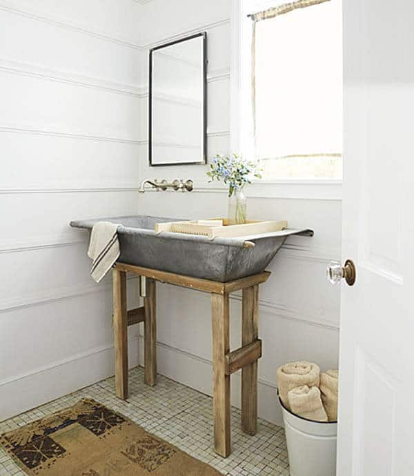 Salvaged Sink styling