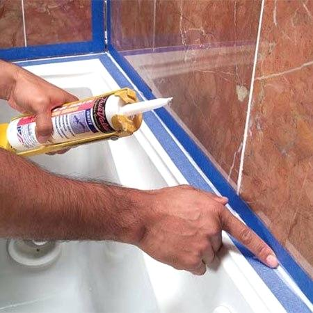 how to caulk a tub
