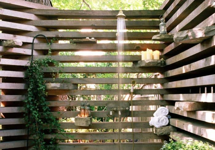 An Urban Outdoor Shower