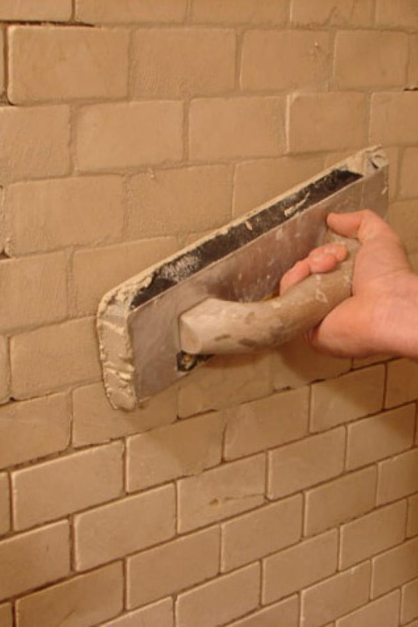 Apply your grout diagonally 1