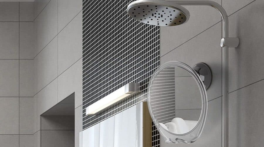 Fog Free Travel Shower Mirror ~ Fogless Shaving On The Go ~ Anti Fog ~ Great No
