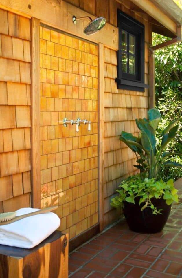 Ceramic Outdoor Shower