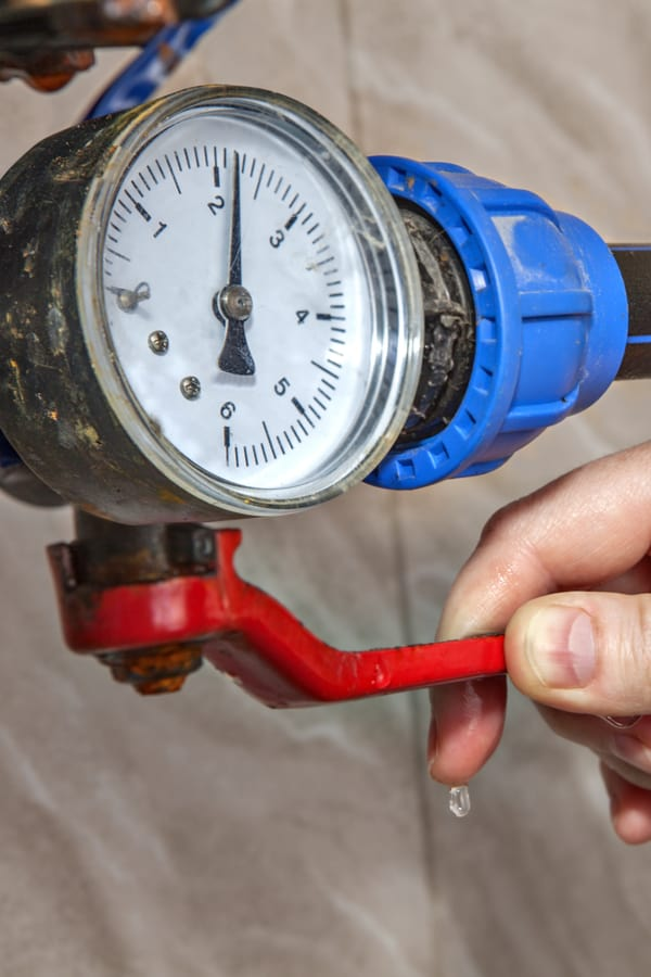 Check that the valve is fully open