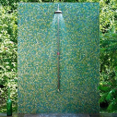 Colorful and classic outdoor shower