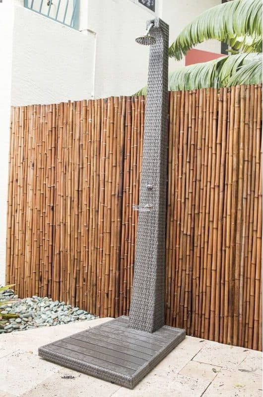 Graphite Freestanding Outdoor Shower
