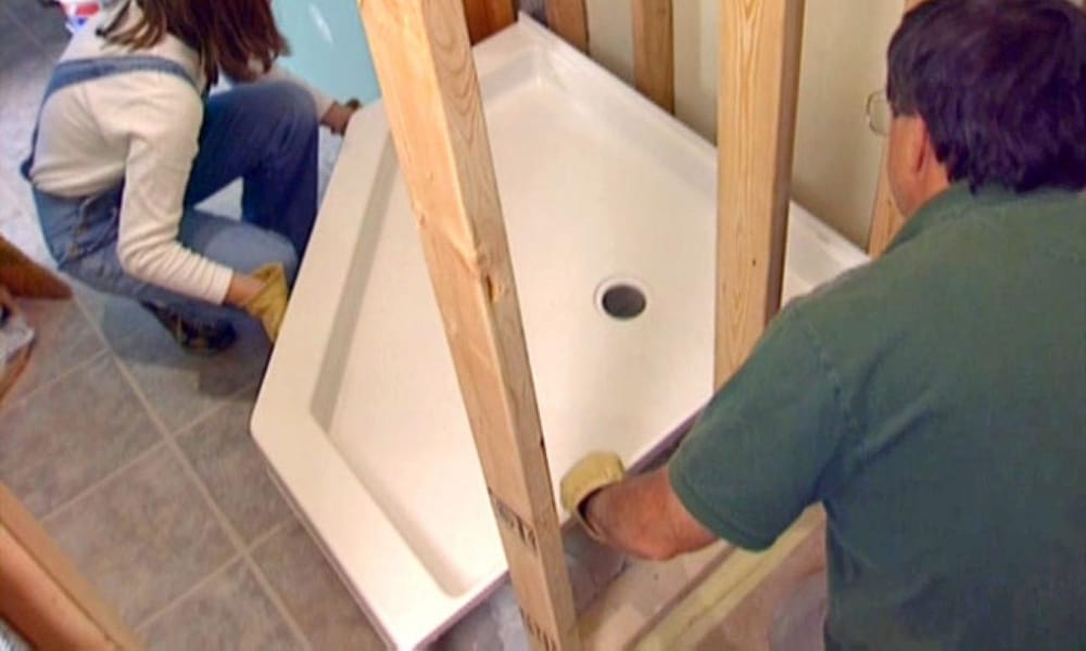 Install a manufactured pan