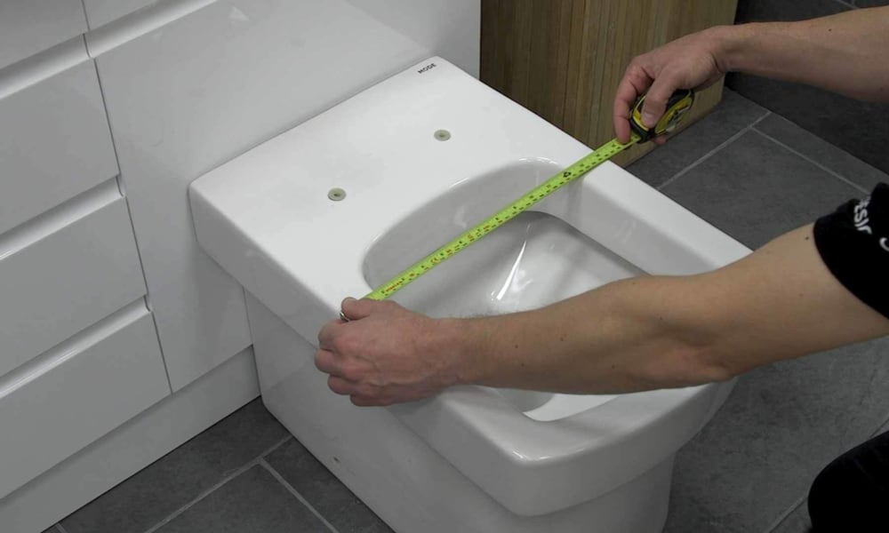 Measure the width of your toilet