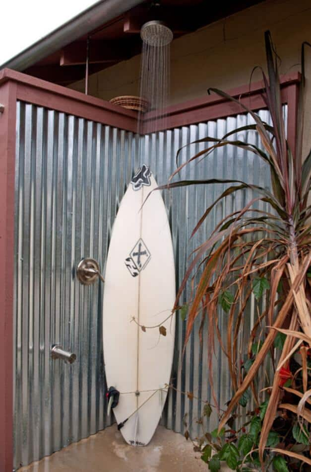 Metal 'n Surf outdoor shower