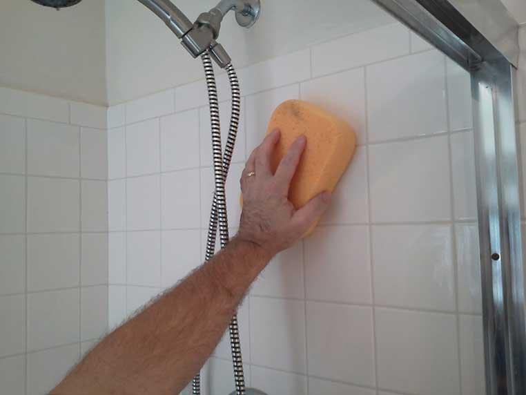 Sponge off the mess