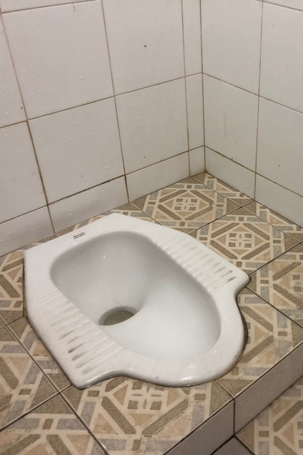 The negative sides of the squat toilets