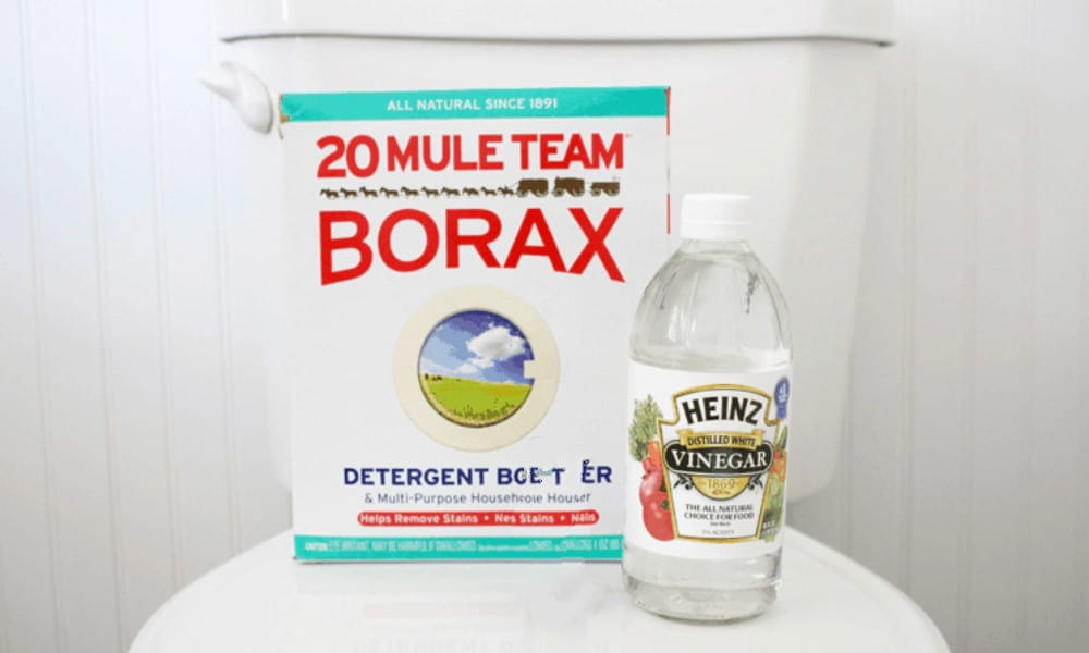 White Vinegar and Borax