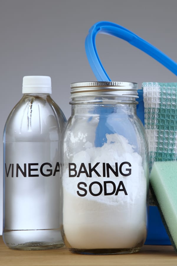 White vinegar and baking soda
