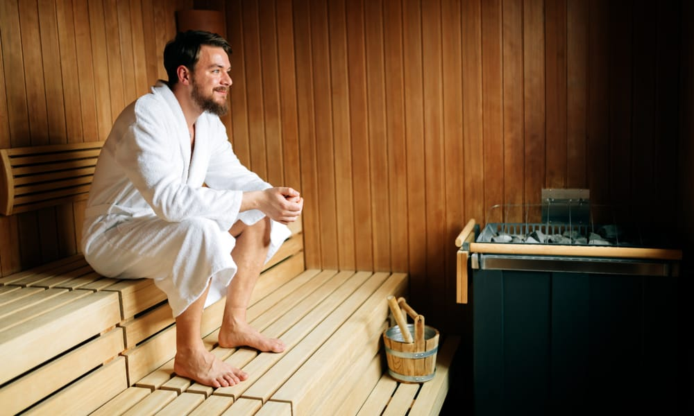 Image result for sauna drinking water