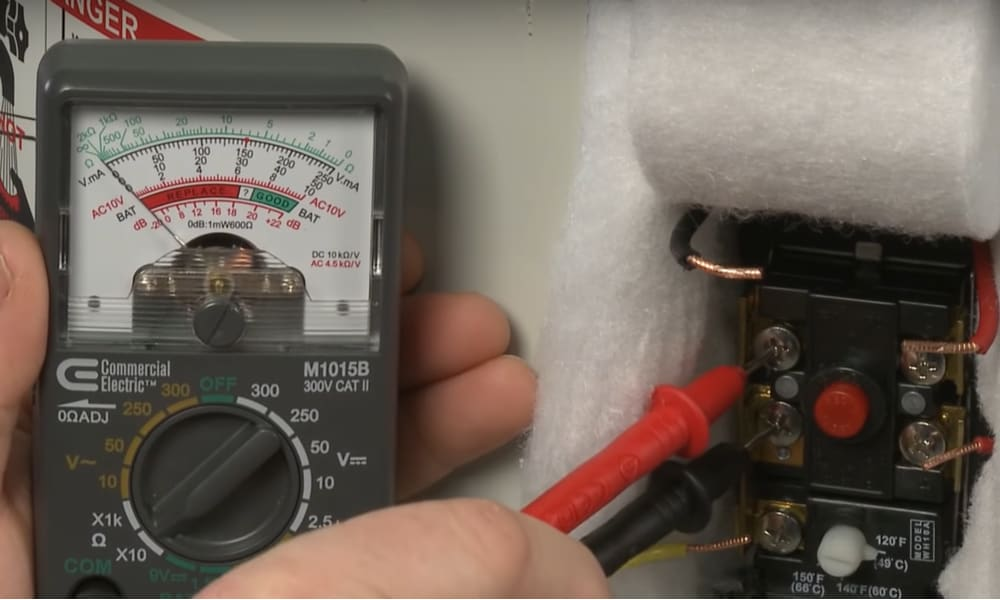 How test hot water heater thermostat