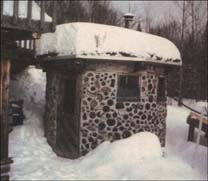 Cordwood Masonry Sauna