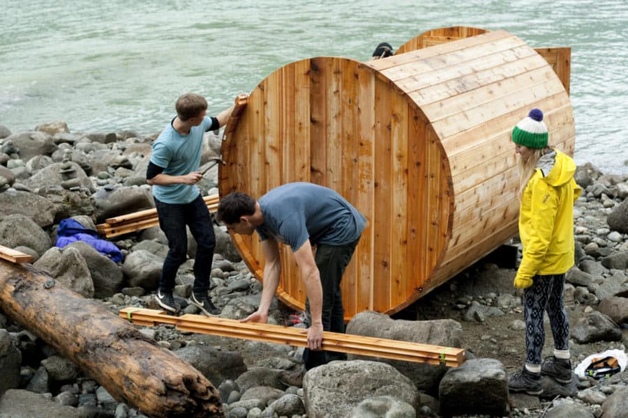 DIY Cedar Barrel Sauna