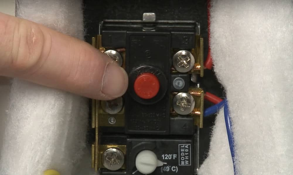 Faulty High-Temperature Cutoff Switch