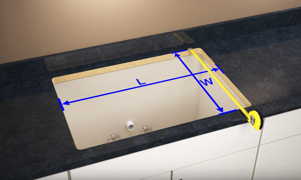 Get the Measurement of the Countertop Hole