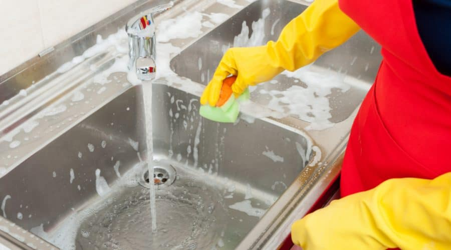 How To Clean Kitchen Sink Stainless Porcelain Aluminum Ceramic