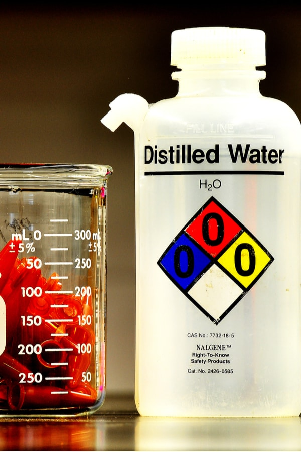 So what would you use deionized and distilled water for