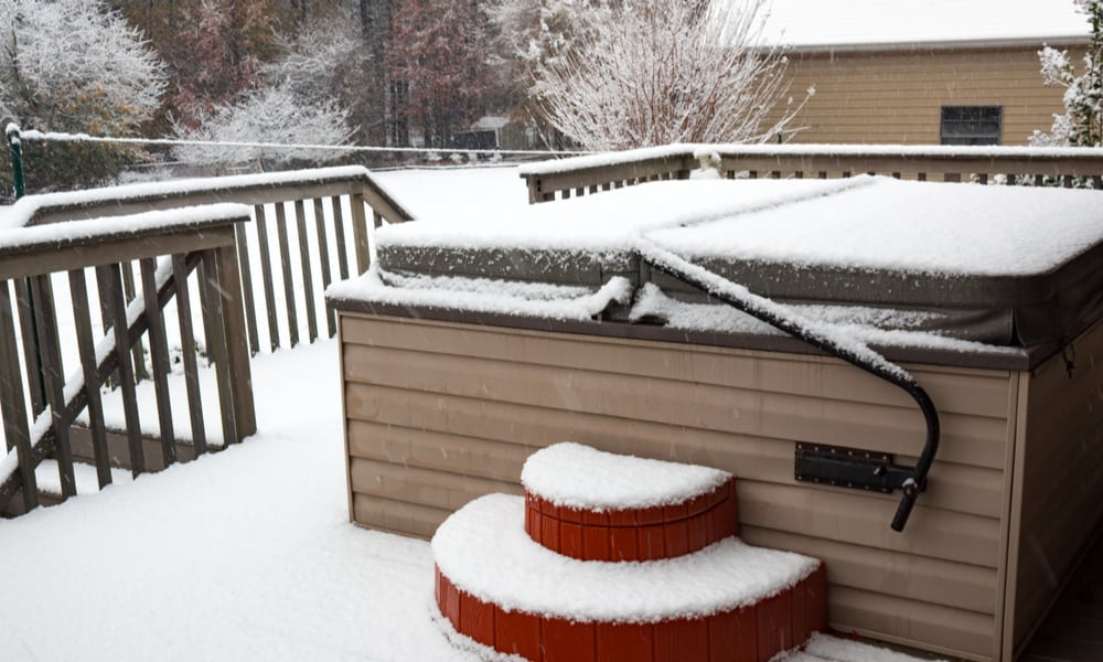 Winterize the tub if you won't be using it during the coldest months