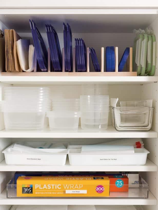 Arrange Leftover Holders in Shelves