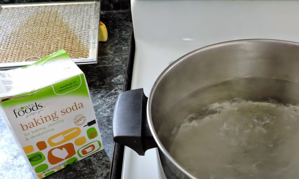Baking soda - method one