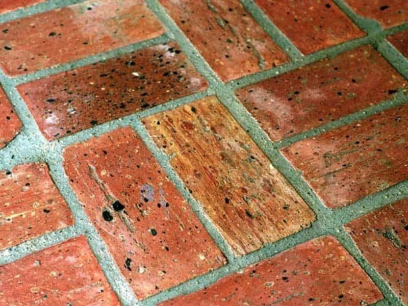 Brick kitchen flooring