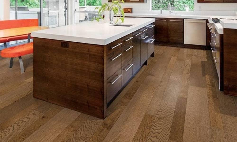 Engineered wood kitchen flooring