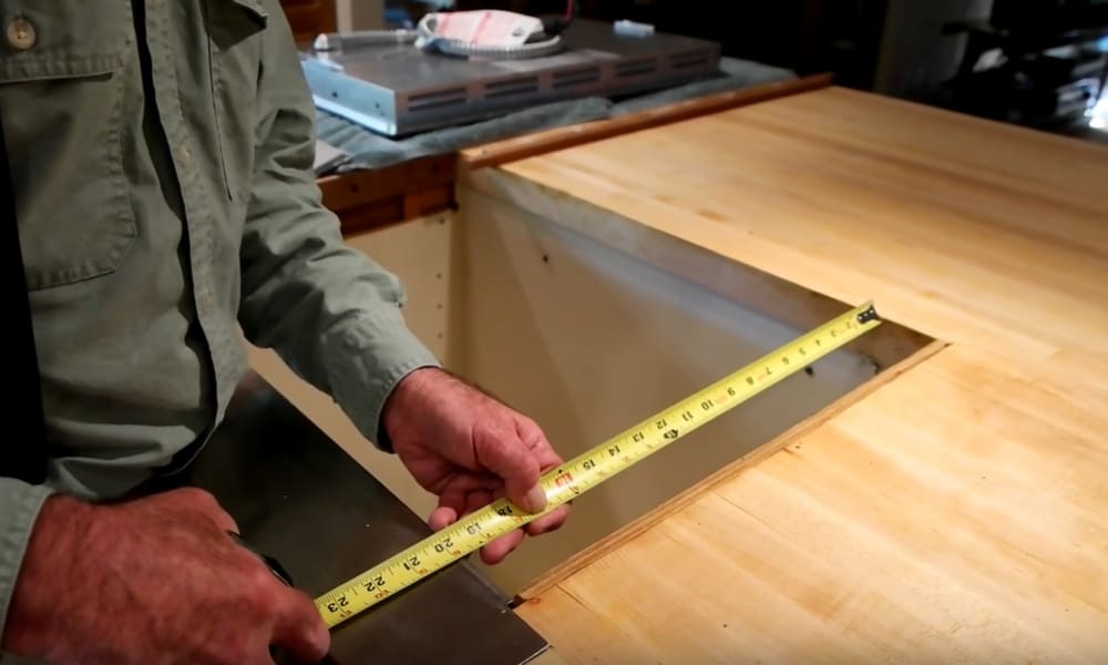 Get the Measurement of your Cooktop Opening