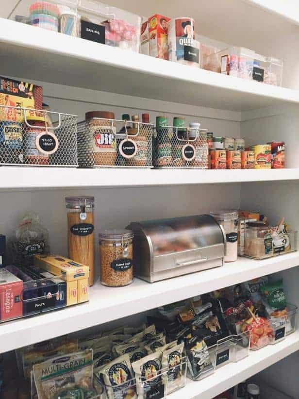 Place Bins in Deep Shelves
