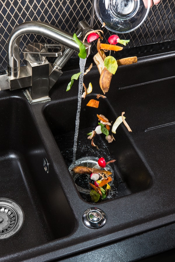 Run cold water down your garbage disposal