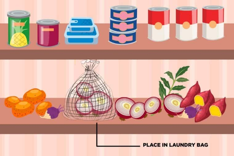 Store Spices in Mesh Laundry Sacks