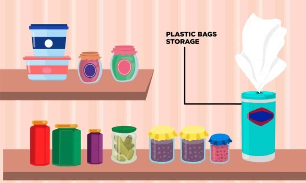 Tuck Away Your Plastic Grocery Bags