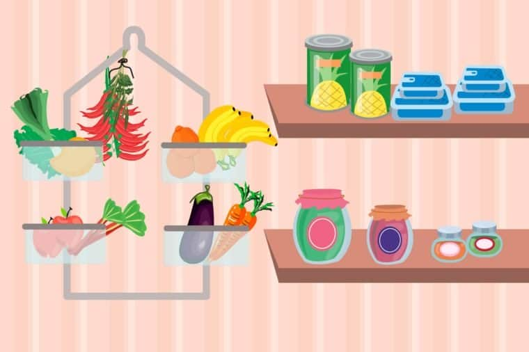 Use a Shower Organizer to Store Food