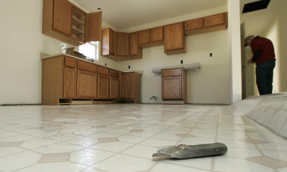 Vinyl kitchen flooring