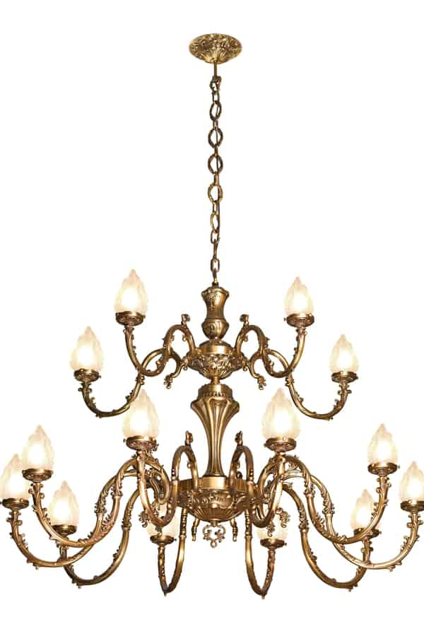 Brass kitchen chandelier