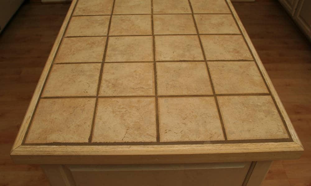 Ceramic tile countertop material
