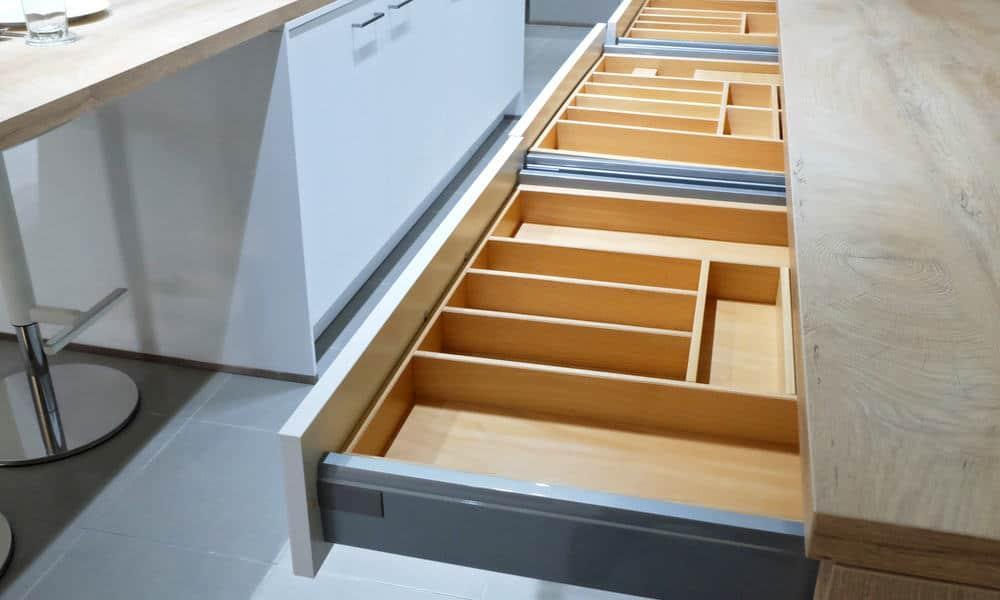 Drawer organizer for kitchen stuff